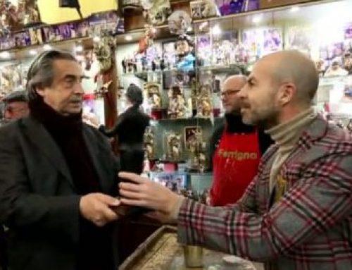Maestro Muti inside the crèche: the homage of Ferrigno in Naples